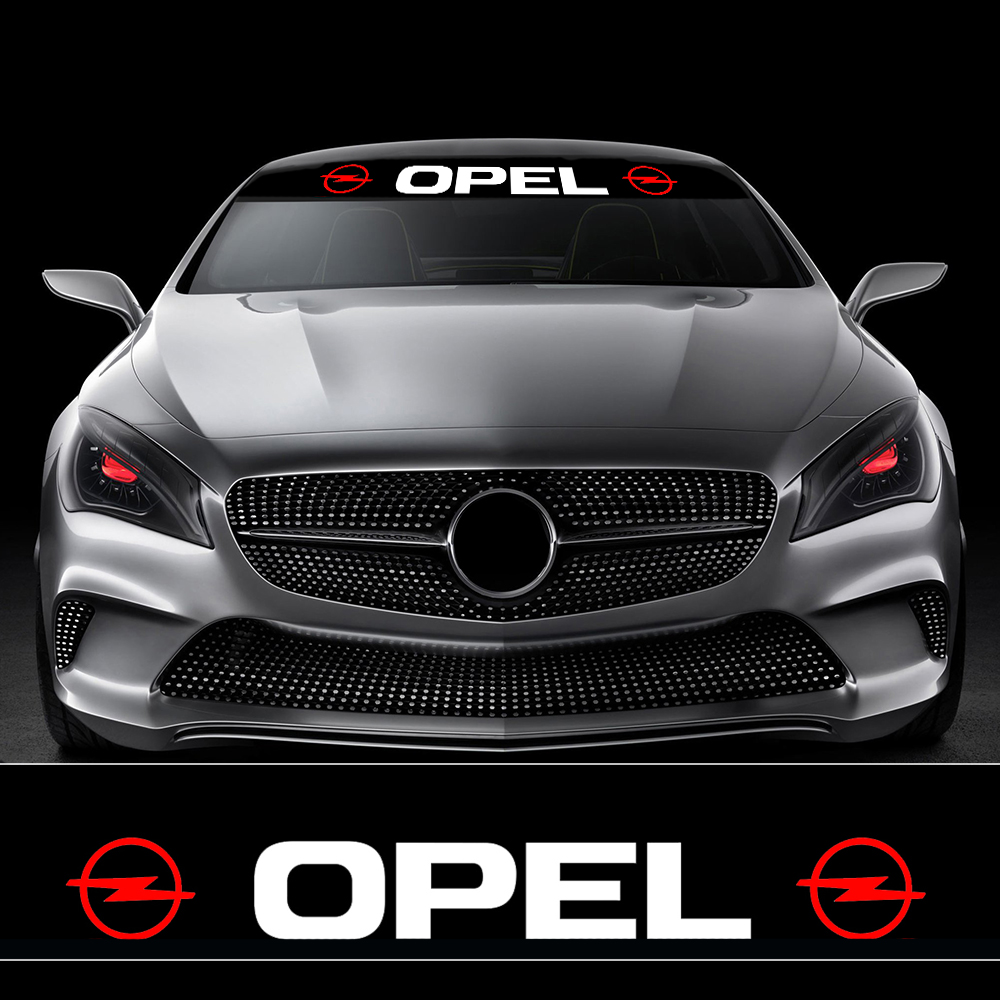 Car-Styling Stickers Sunshade Front Windshield Banner Decal For Opel Astra H G J Corsa Insignia Antara Meriva Zafira Accessories