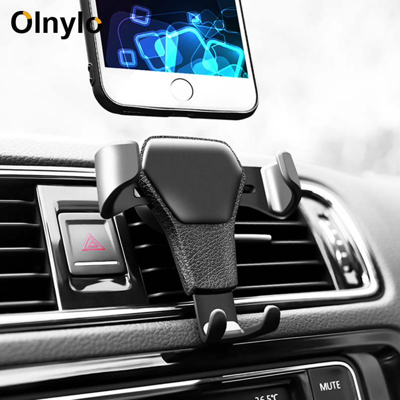 Universal Car Phone Holder In Car Air Vent Mount Stand Mobile Phone Holder For Huawei Mate 30 Pro Gravity Smartphone Cell Stand(China)