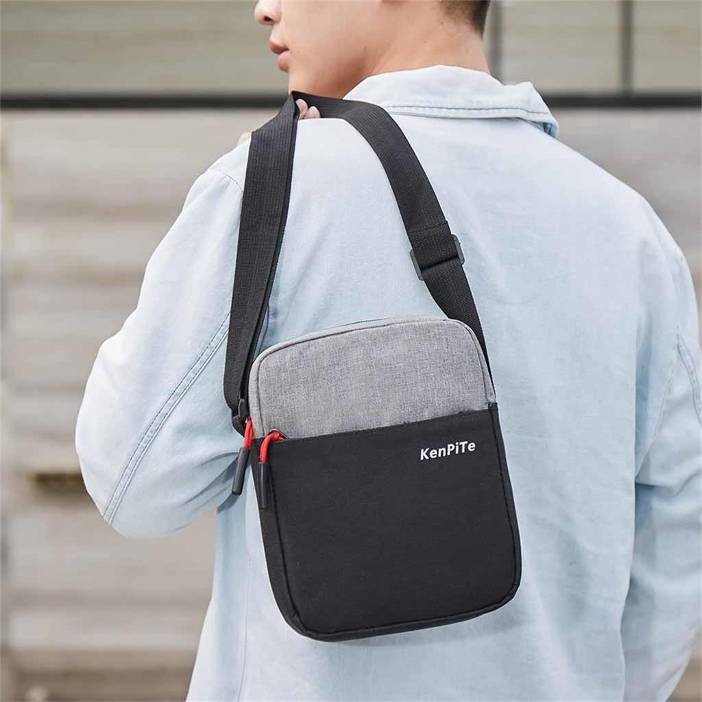 Men Diagonal Mini Shoulder Multi-Function Mobile Phone Bag Outdoor Sports Bag