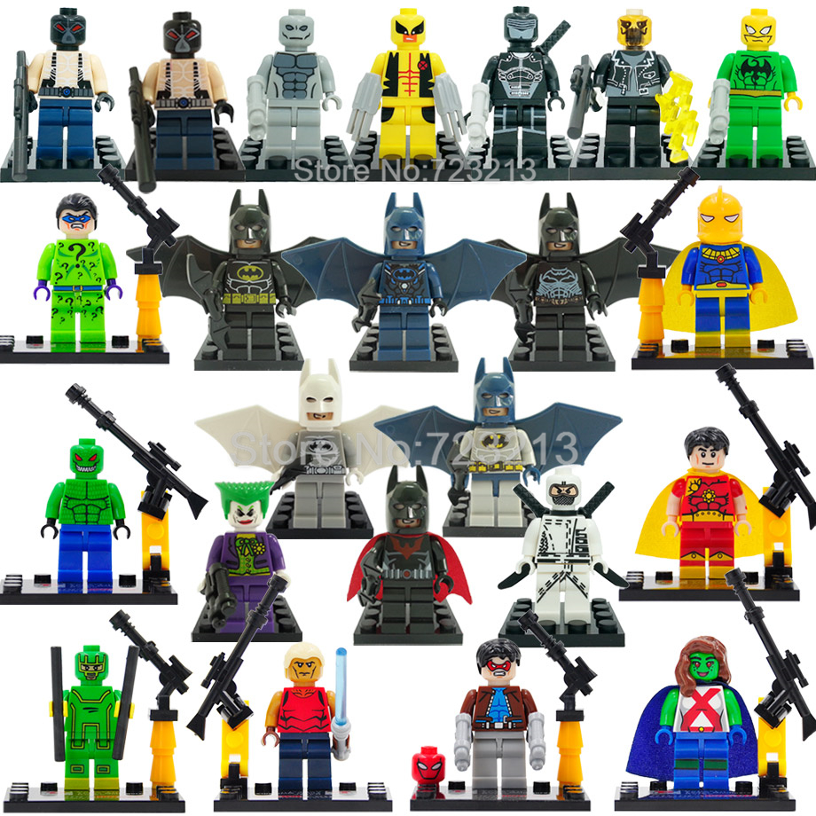 Single Snake Eyes Jason Todd The Croc Batman Bane Aqualad Kick Ass Building Blocks Super Hero D845 D840 D856 Bricks Toys Legoing