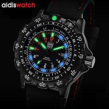ADDIESDIVE Military Uhren Männer 2021 Luxus Mode Casual Sport Armbanduhr 50m Wasser Resistan Schwarz Silikon Armband