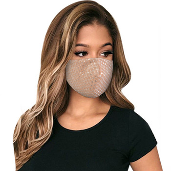 Adult Washable Adjustable Cotton Breathable PM2.5 Sequins Protector Face Mask Reusable Mouth Cover Fabric Masks mascarilla