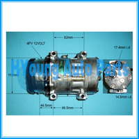 air auto ac compressor for Case New Holland TS110 Tractor 112mm 4pk 12v Horizontal Pad 40405266