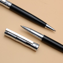 1PCS Rollerball Ballpoint Pen Set Commercial Metal Ball Pens For School Office Stationery Gift Pen The Press Of Style Black Ink
