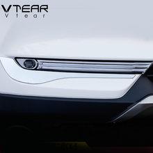 Vtear para mazda cx5 CX-5 acessórios 2020-2017 frente luzes de nevoeiro traseira capa quadro guarnição abs chrome decoração exterior estilo do carro