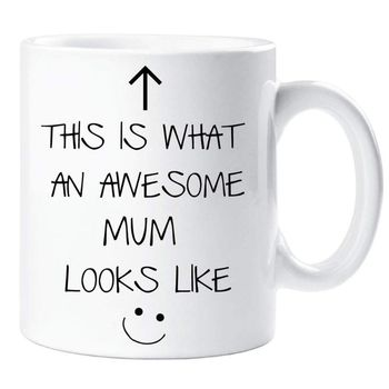 This Is What An Awesome Mum Looks Like Mug Cup Ceramic Breakfast Coffee Cups Mothers Day Thanks Present Gift 1