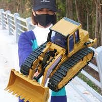 1:16 RC Truck Bulldozer Dumper Caterpillar Tractor Model Engineering Car Excavator Push Soil Music Lighting Effects Kids Toys