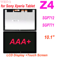 AAA+ 10.1 LCD For Sony Xperia Tablet Z4 SGP712 SGP771 LCD Display Touch Screen Digitizer Assembly for Sony Z4 LCD