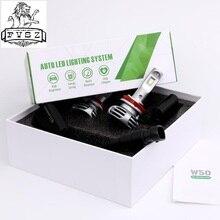 2Pcs W50 H11 LED Auto Scheinwerfer H1 h4 H7 9005 9006 9012ultra helle scheinwerfer nebel lampe umgerüstet entfernten licht 6000K Auto lampe