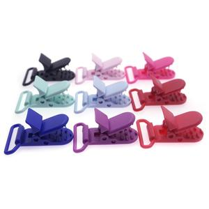 Image 3 - 100 Pcs 20 Color Mixed Hot D Shape 25mm Plastic Baby Pacifier Clip Holder Newborn Baby Dummy Soother Bib Toy Chain Gift