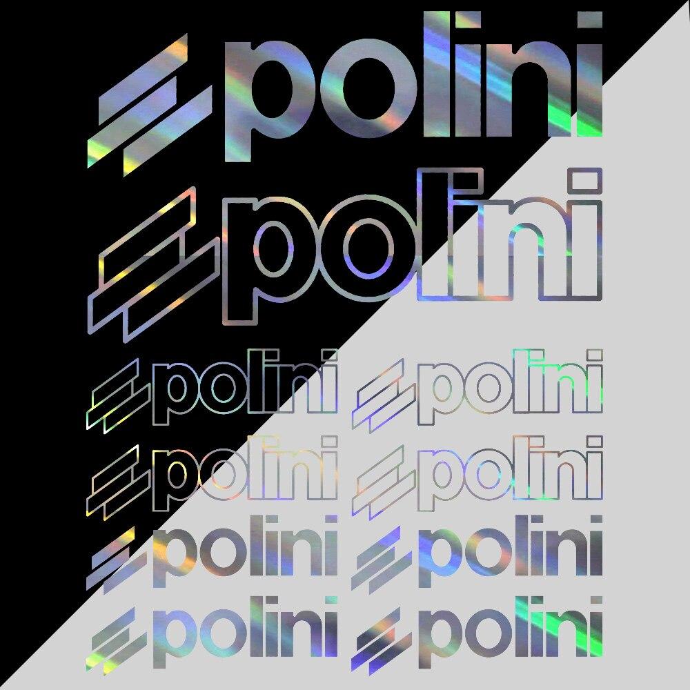 Набор из 10 шт.-совместимый для POLINI для мотоциклов и автомобилей виниловые наклейки в виде Фотообоев c переводными картинками Стикеры набор г...