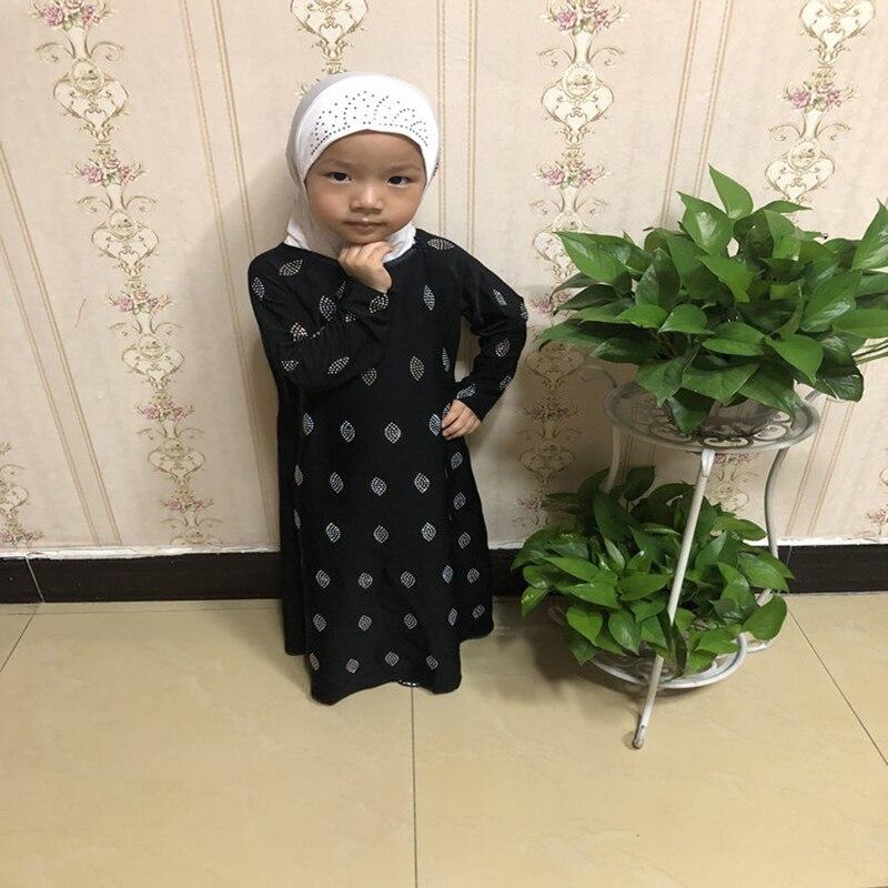Black Girls Kids Abaya Turkey Muslim Dress Children Kaftan Robe Dubai Hijab Dress Abayas Elbise Caftan Marocain Islamic Clothing