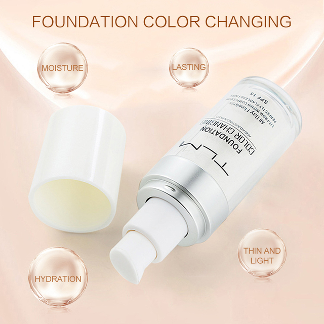 TLM 30ml Color Changing Liquid Foundation Oil-control Concealer Cream Hydrating Long Lasting Makeup Foundation 4