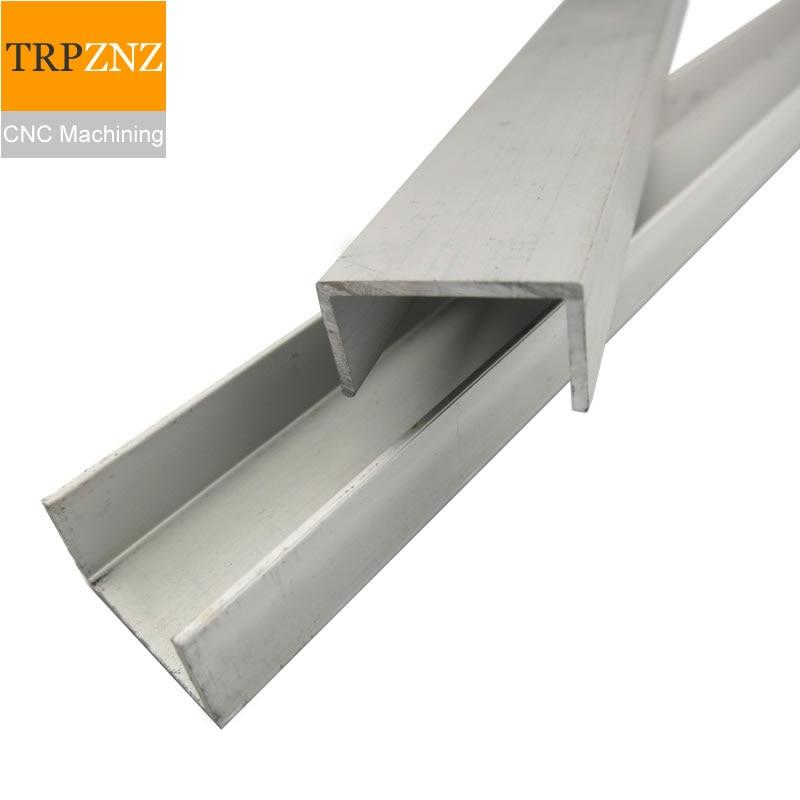U-shaped Aluminum Groove Profile,Bezel Grooved Aluminum,guide Card Slot Glass Fixed Inner Groove,CNC Machining,laser Cutting