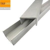 U shaped aluminum groove profile,Bezel grooved aluminum,50x50x2mm ,4 length ,4 pcs, ship to Korea