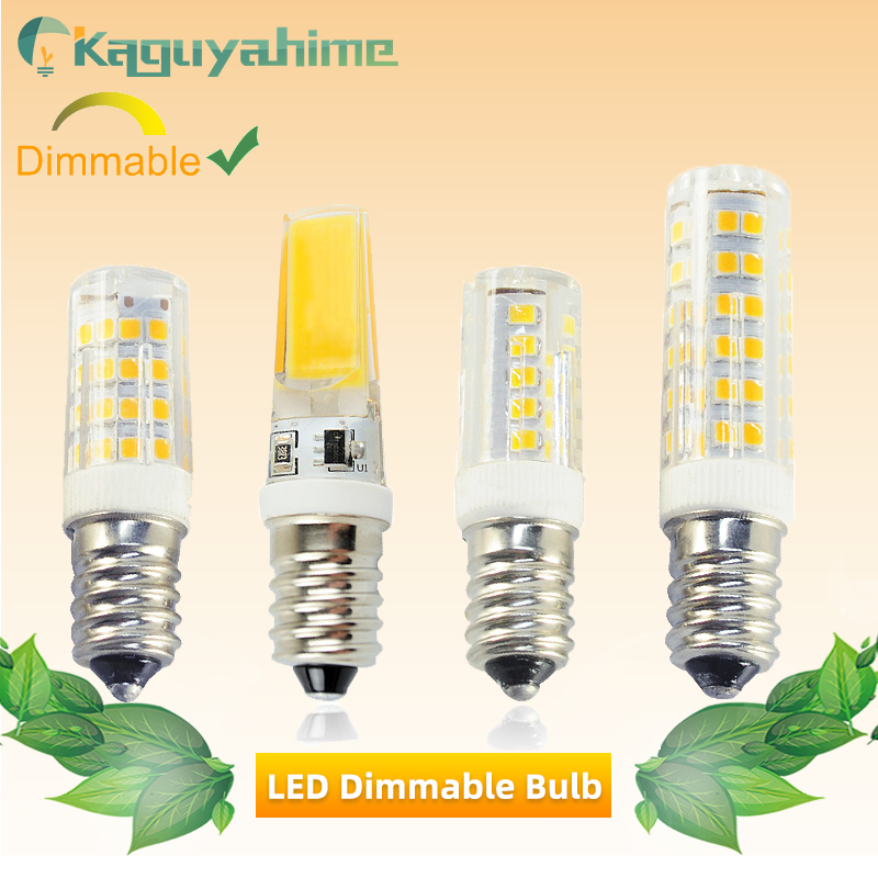 Kaguyahime E14 LED Bulb Light 220V Dimmable Mini Ceramics COB Led Lamp E14 5W 6W 7W 9W Candle Spotlight Bombilla Ampoule Lampada