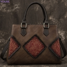 Genuine Leather Retro Bag women  Fashion Crossbody/shoulder Bag Casual women Messenger Bag First Layer Cowhide Handbag стоимость