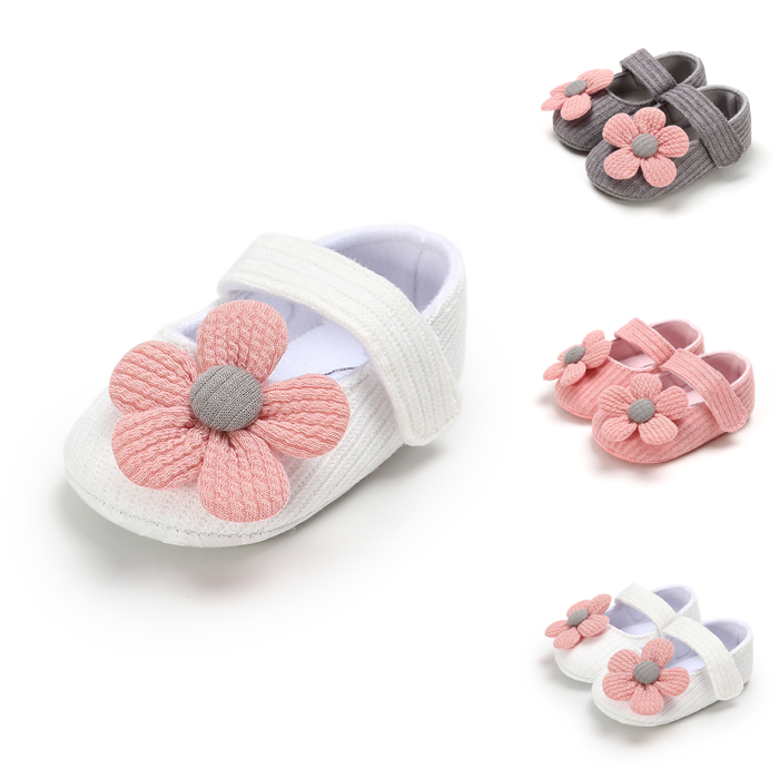 2019 Baby First Walkers Clothing Kids Infant Newborn Baby Boy Girl Unisex Soft Sole Crib Shoes Flower Cotton Prewalker Shoes