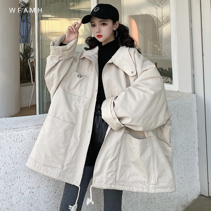 <font><b>Winter</b></font> lamb <font><b>fur</b></font> coat <font><b>men</b></font> and women 2020 autumn and <font><b>winter</b></font> new Korean thick long-sleeved loose cotton <font><b>shirt</b></font> women's tide image