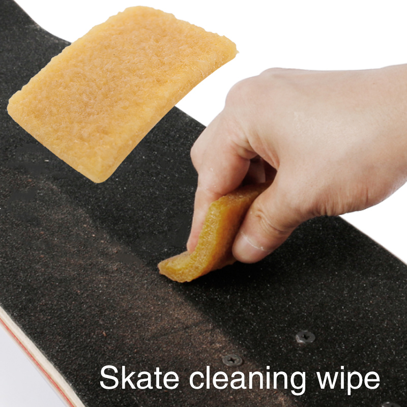 Skateboard Rub Skateboard Rubber Eraser Canary Yellow Reuse Tool Extreme Sports Skateboard Dirt Remover Wear-Resisting