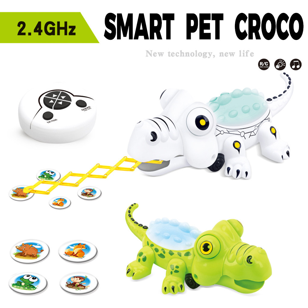 Learning Education Toys Fun Learning Toys Children Remote Control Crocodile Animal Holiday Gift Children's Toy Christmas Y1021