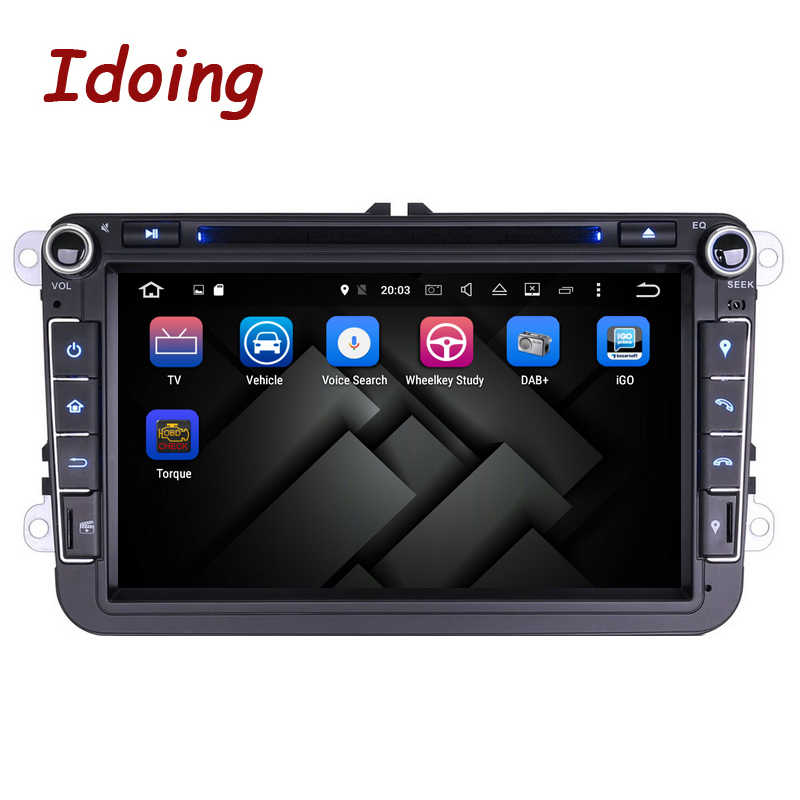 Idoing 2Din Stuurwiel Voor Vw Polo Golf5 Passat B6 Android7.1 Auto Multimedia Speler Touch Screen Navigatie Quad Core Radio