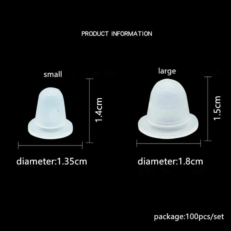 100 PCS/Set Lembut Tato Tinta Piala Cap Pigmen Silikon Pemegang Wadah L/S untuk Jarum Tato Tubuh Seni Tato allowance