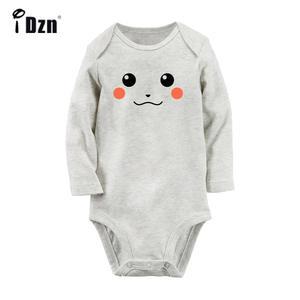 Baby Bodysuit Pokemon Newborn Onsies Long-Sleeve Toddler Cotton Cartoon Cute Zelda Pikachu