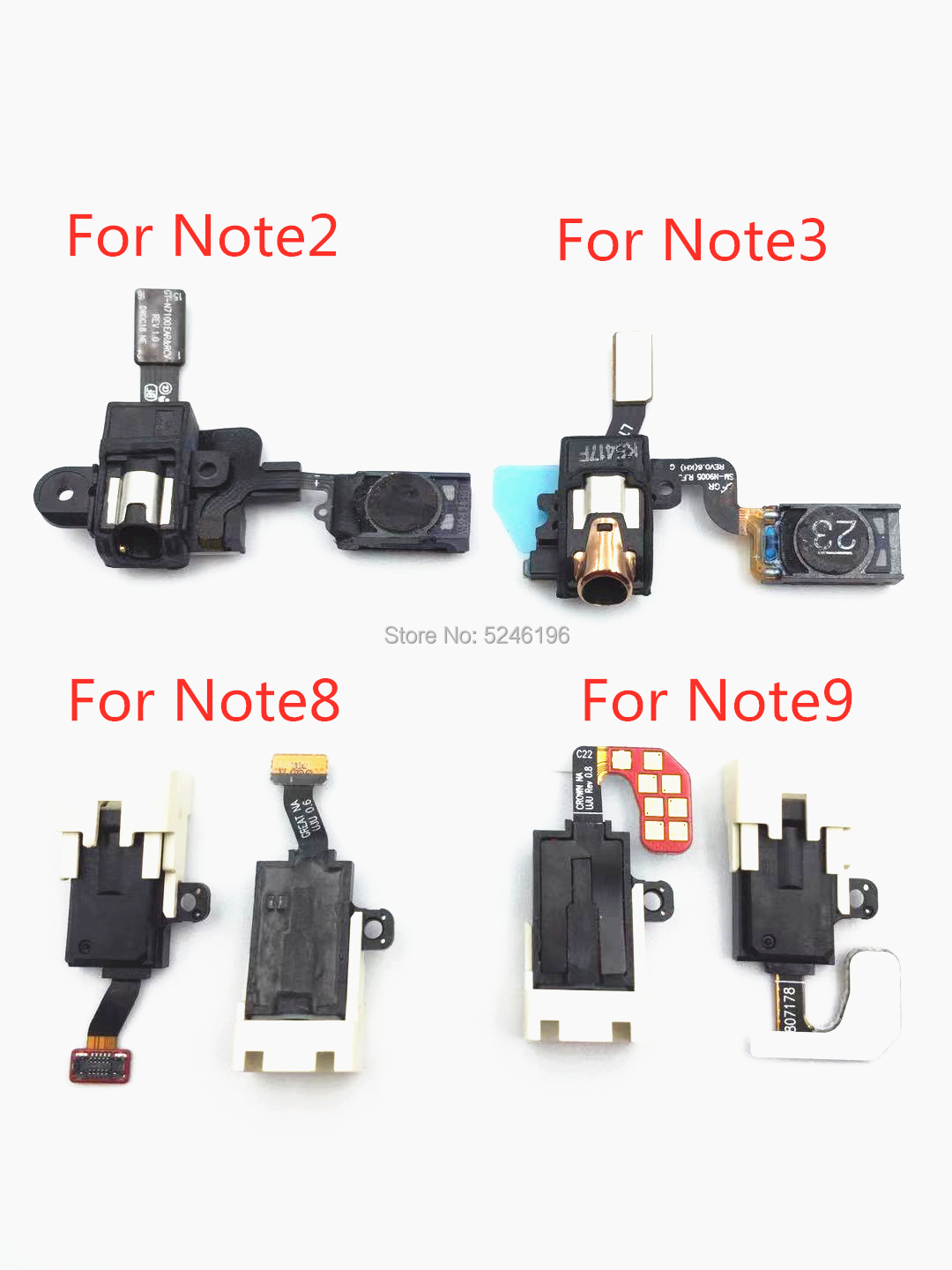 1pcs Ear Earpiece Speaker Flex Cable For Samsung Galaxy Note 2 3 4 5 Note8 9 S8 S9 Plus Headphone Jack Audio Repair Replacement
