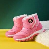 -30 grados 26-37 zapatos cálidos de invierno para bebé, zapatos impermeables de moda para niños, botas perfectas para niños y niñas
