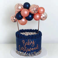1set Kreative 10 stücke 5 zoll Ballon Kuchen Topper Set Geburtstag Party Dekoration Kuchen Topper Baby Dusche Hochzeit Decor liefert