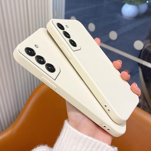 Original Liquid Silicone Case For Samsung Galaxy A51 A71 S21 S8 S9 S10 Plus A50 A52 A72 A31 A21S A41 M31 M30S Shockproof Cover 2