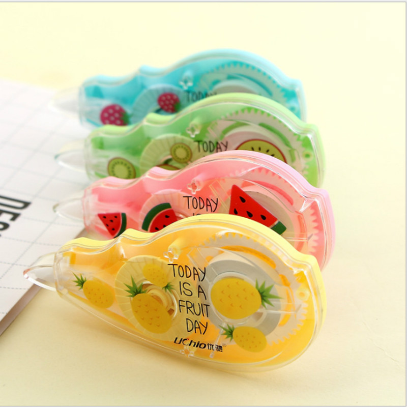 1Pc Cute Fresh Fruit Correction Tape Multi-function Large-capacity School Students Office Supply Corrector Stationery Kids Gift