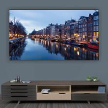 """Ambient Light Rejecting ALR  Projector Screen 80"""" 90"""" 100"""" 120"""" Ultra Thin Border Frame Best Design for UST Projection"""