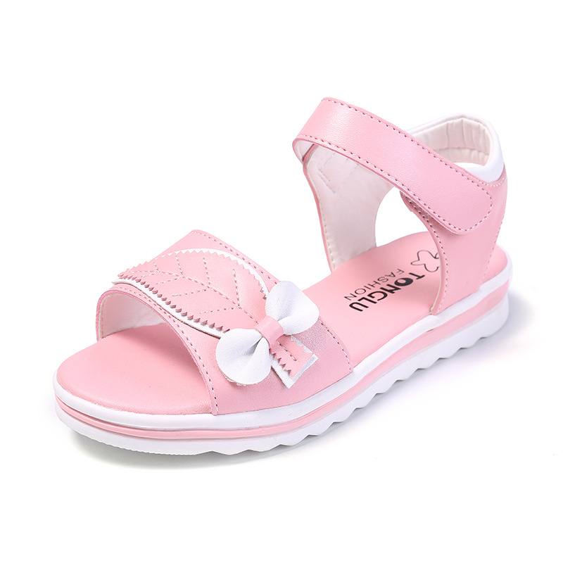New Fashion Summer Children Girls Bohemian Casual Butterfly Sandals Princess Flat Shoes 2020 Hook & Loop Kids Girl Sandals