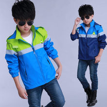 Boys Windbreaker 2019 New Fashion Jacket For Child Clothing Wind and Rain Patchwork Coats & Outerwear For Kids Wear 5-14Y Teens
