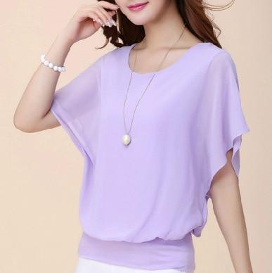 Summer Casual Short Sleeve Women Blouse 5XL Plus Size Chiffon Blouses Beach Shirt Office Work Loose Shirts Blusas Feminina Tops 4