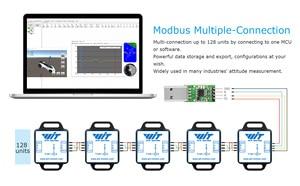 Image 5 - WitMotion WT901C485 גבוהה יציבות 9 ציר AHRS Inclinometer תאוצה + גירוסקופ + זווית + מגנט (XYZ), RS485 Modbus פרוטוקול