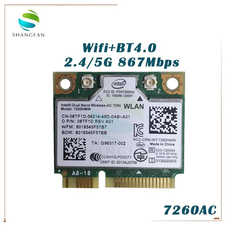 Intel 7260HMW-BN Wireless-N Wifi Dual Band PCI-E Half Mini Card 7260HMWBN