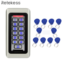 RETEKESS Access Control Keypad System RFID Door 125KHz 1 Access Control Keypad + 10 RFID Keyfobs Cards With 2000 Users F9501D обувница мастер милан 29 орех