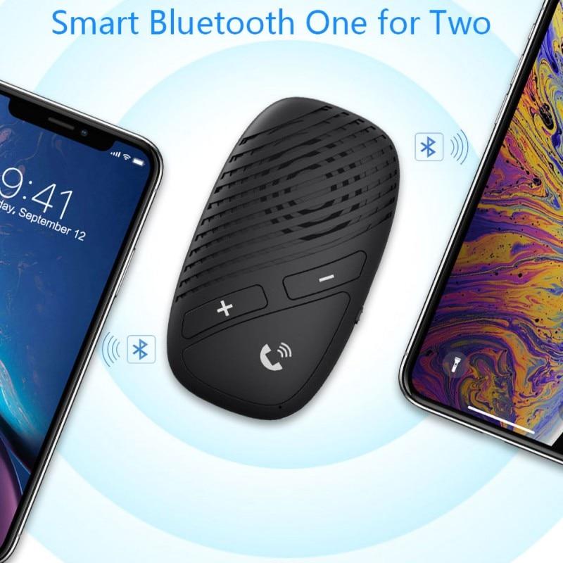 Novo para bluetooth 5.0 transmissor do carro receptor leitor de música mãos livres chamada adaptador sem fio - 4
