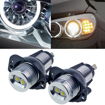 Hot 10W Car LED marker Angel Eyes for BMW LED angel eyes halo rings For BMW E90 E91 Pre-LCI with Xenon Headlights image