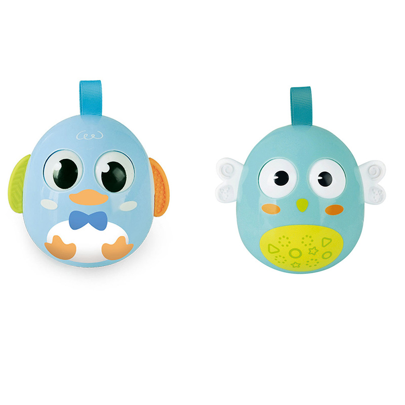 Tumbler Toys Early Learning Education Baby Doll Gifts Childrens Cute Chicken Nodding Tumbler Handbell Ring Bell Rattle Toys Gift