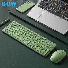 B.O.W 2,4 Ghz Drahtlose Tastatur 96 tasten, ultra-Slim USB Multimedia TASTATUR WI USB Port Englisch Layout Komfortabel und Ruhig
