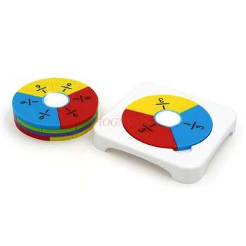 Primary School Math Fraction Learning Disc Learning Cognitive Numeral Denominator Addition and Subtraction Model image