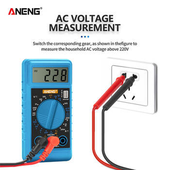 ANENG Mini Digital Multimeter electric tester meter multimetro transistor capacitor component tester auto range multimeter zeast vc97 digital multimeter 3 3 4 capacitor frequency tester meter professional electric leads instruments lcd probe