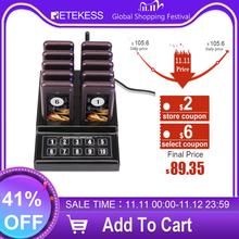 Retekess SU 68G Restaurant Pager Waiter Calling System With 10 Pager Receivers For Church Clinic Hospital Wireless Pager System