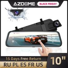 "AZDOME PG02 10 ""กระจกTouch Dash Cam Streaming Media ADASเลนส์Dual Reversingกล้องNight Vision 1080Pเครื่องบันทึกสำหรับUber"
