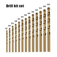 Conjunto de ferramentas de aço inoxidável do bocado de broca m35 da torção do aço de alta velocidade cobalto acessórios para a perfuração de aço inoxidável do metal