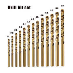 Cobalt high speed steel twist drill bit M35 Stainless Steel Tool Set Accessories for Metal Stainless Steel Drilling
